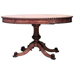 19th c. English Regency Style Oval Center Table
