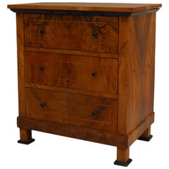 Swedish Biedermeier Walnut Chest of Drawers