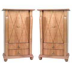 Pair of 1940's Maple Cabinets, Attr. to André Arbus