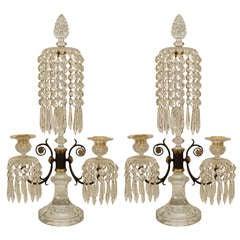 Paar Kristall-Kronleuchter von Waterford im Regency-Stil, England
