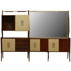 Mid-Century Gio Ponti Mirrored Bar