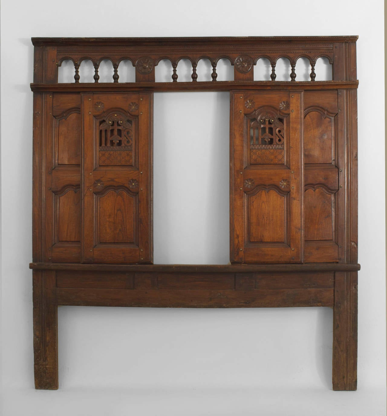 18th Century Italian Renaissance Headboard Originally From Walnut Confessional For Sale At 1stdibs