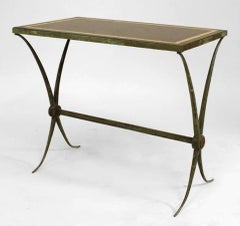 Raymond Subes French Art Deco Green Patinated Marble End Table