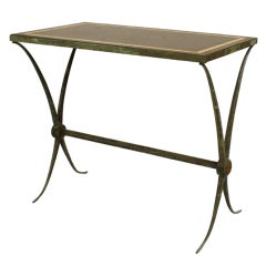 Art Deco Marble End Table, Attrib. to Raymond Subes