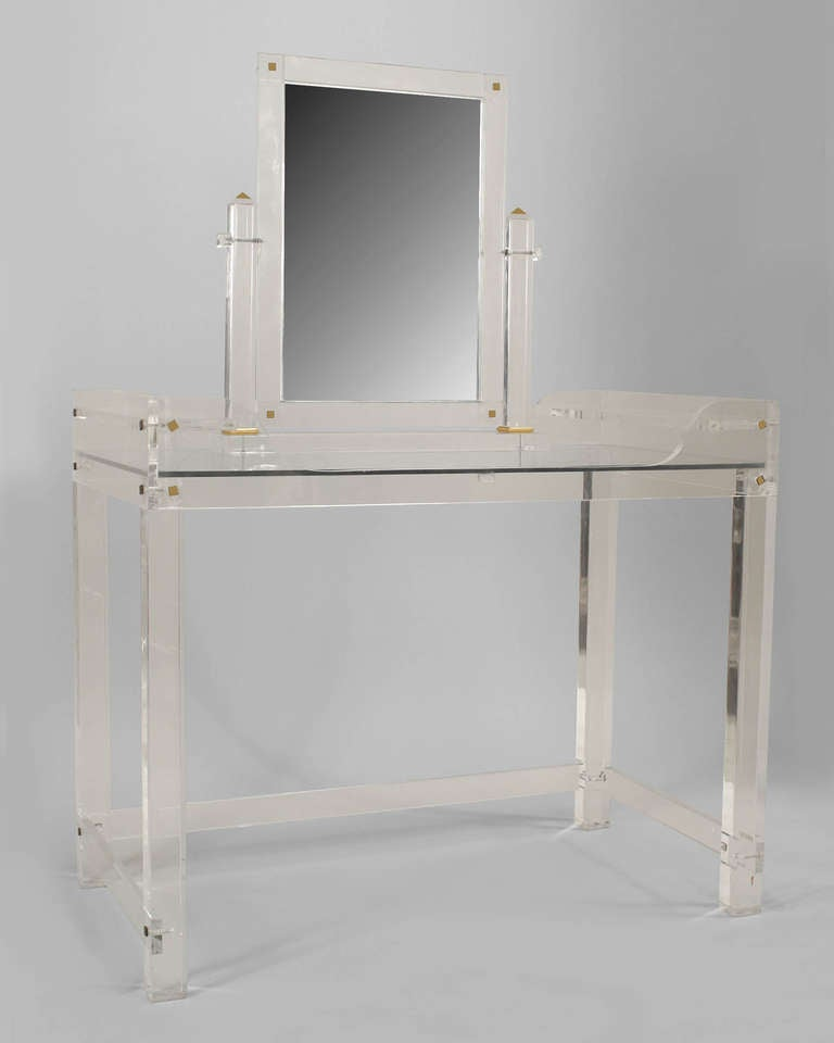 1940 S Lucite Dressing Table With Mirror At 1stdibs