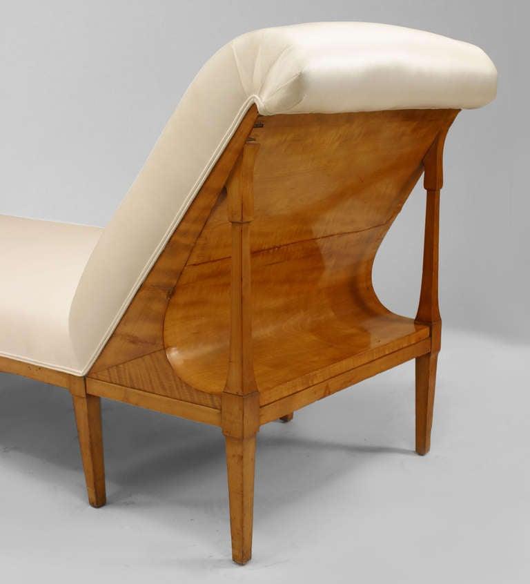 19th c ash wood biedermeier chaise at 1stdibs for Biedermeier chaise