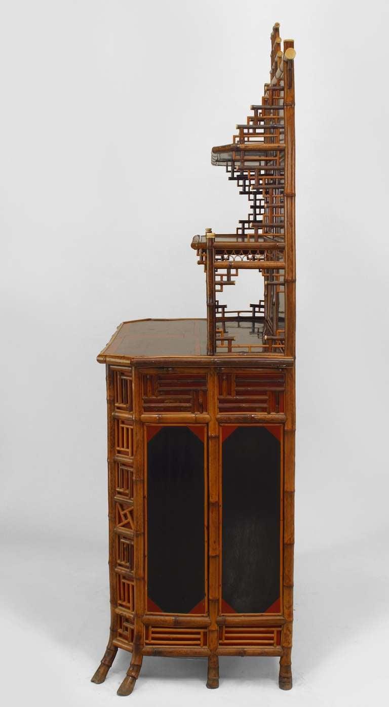 19th c english regency bamboo etagere cabinet for sale at. Black Bedroom Furniture Sets. Home Design Ideas