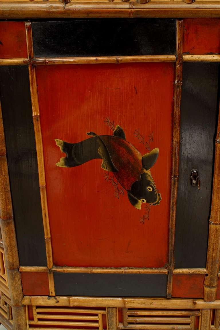 19th c english regency bamboo etagere cabinet for sale at for Bamboo kitchen cabinets for sale