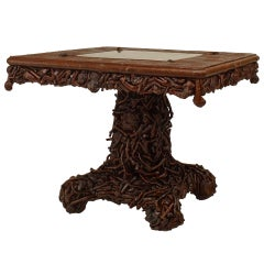 19th c. Adirondack Style Game Table