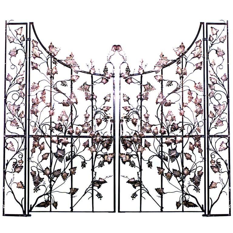Pair Of 19th C. Italian Gates With Vineyard Designs