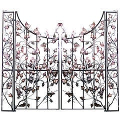 Pair Of 19th C. Italian Gates With Vineyard Designs