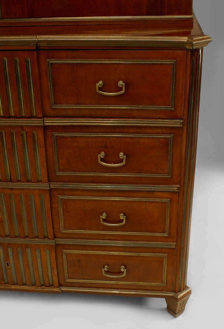 18th c. Russian Brass-Trimmed Mahogany Secretary Bookcase 5