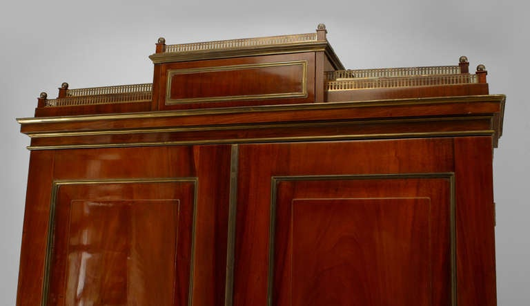 18th c. Russian Brass-Trimmed Mahogany Secretary Bookcase 6