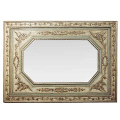 Large 18th Century Italian Neoclassic Silver Gilt Wall Mirror
