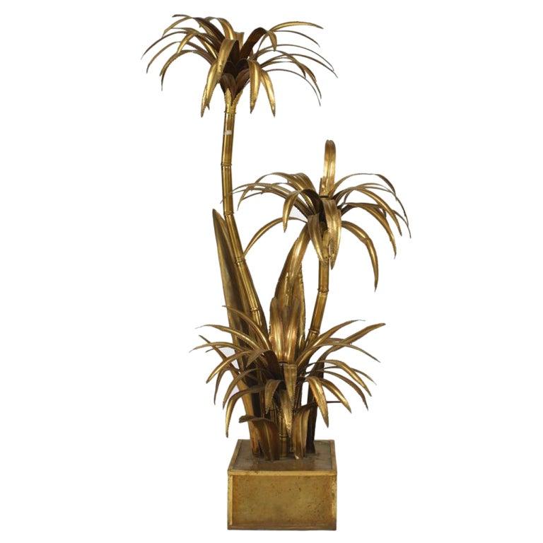 1940 39 s italian brass palm tree floor lamp at 1stdibs. Black Bedroom Furniture Sets. Home Design Ideas