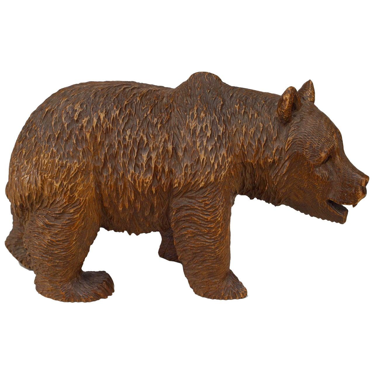 Black Forest Carved Walnut Bear