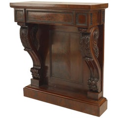 19th Century English Regency Mahogany Console Table