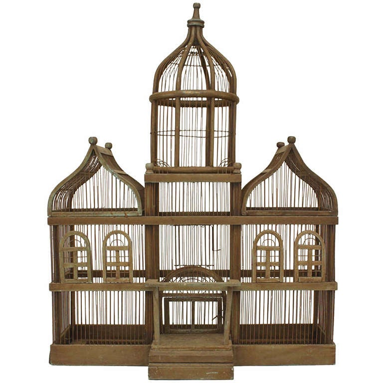 Georgian style house shaped bird cage at 1stdibs for House shaped wardrobe
