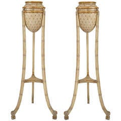 Pair Of Italian Neoclassic Amphora Planter Stands