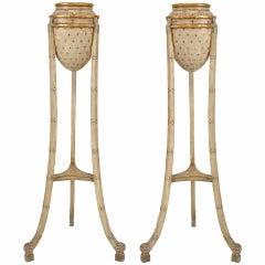 Pair Of Italian Neoclassic Amphora Planter Stands