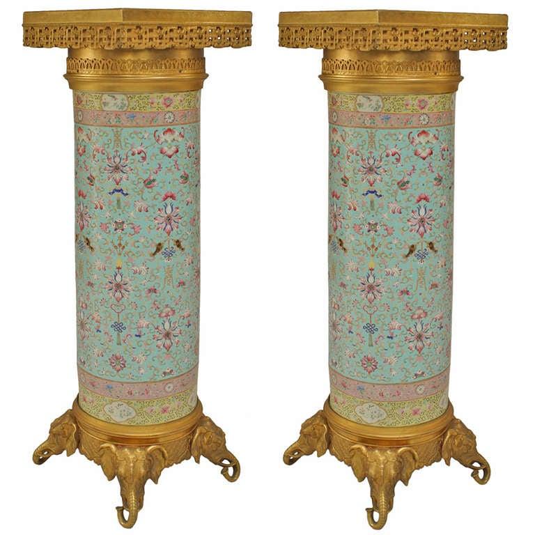 An Extraordinary Pair of 19th c. English Regency Pedestals