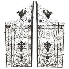 Pair of 19th Century Renaissance Style Iron Gates