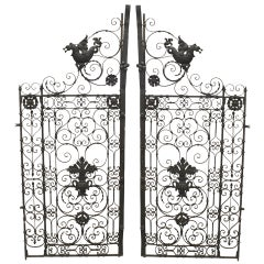 Pair of 19th Century Renaissance Style Iron Gates