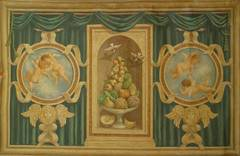 Large 19th Century Italian Neoclassical Mural Style Canvas Painting