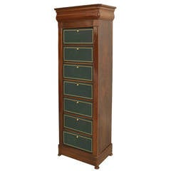 Late 19th Century Continental Mahogany Semainier Chest of Drawers