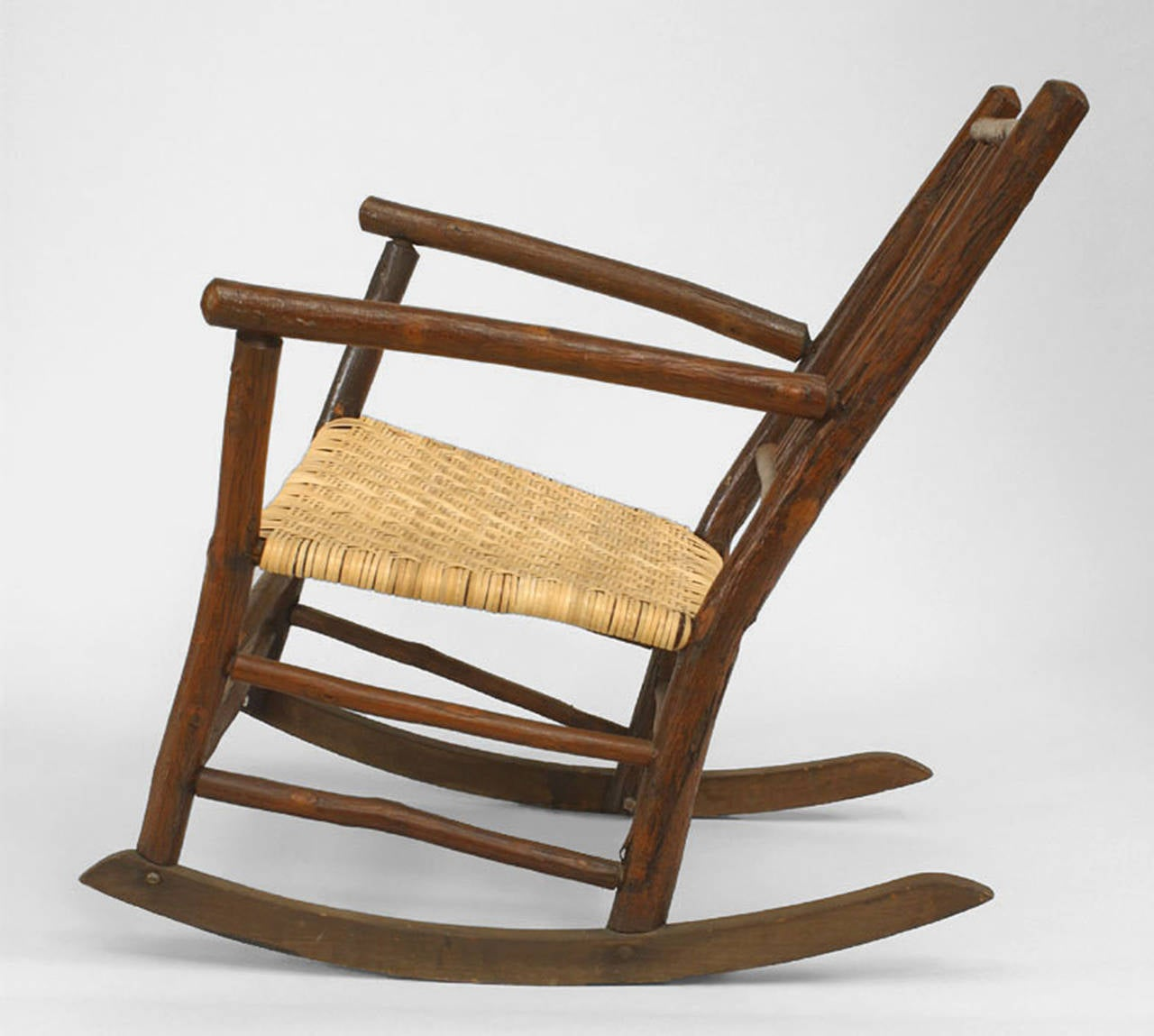 Early 20th Century American Rustic Old Hickory Rocking Chair 2