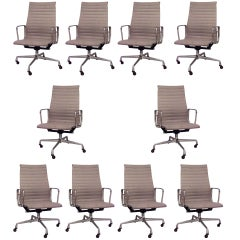 Set of 10 Eames And Miller Swivel Conference Chairs