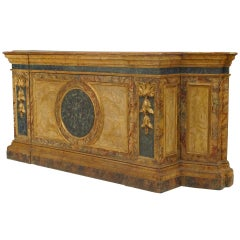 A Monumental 18th c. Venetian Painted and Parcel Gilt Credenza