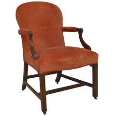 Set Of 14 Georgian Upholstered Mahogany Chairs