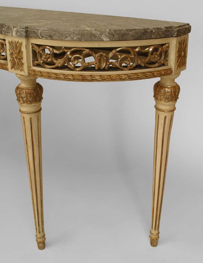 Maison Jansen Louis XVI Style Parcel Gilt Console Table For Sale ...