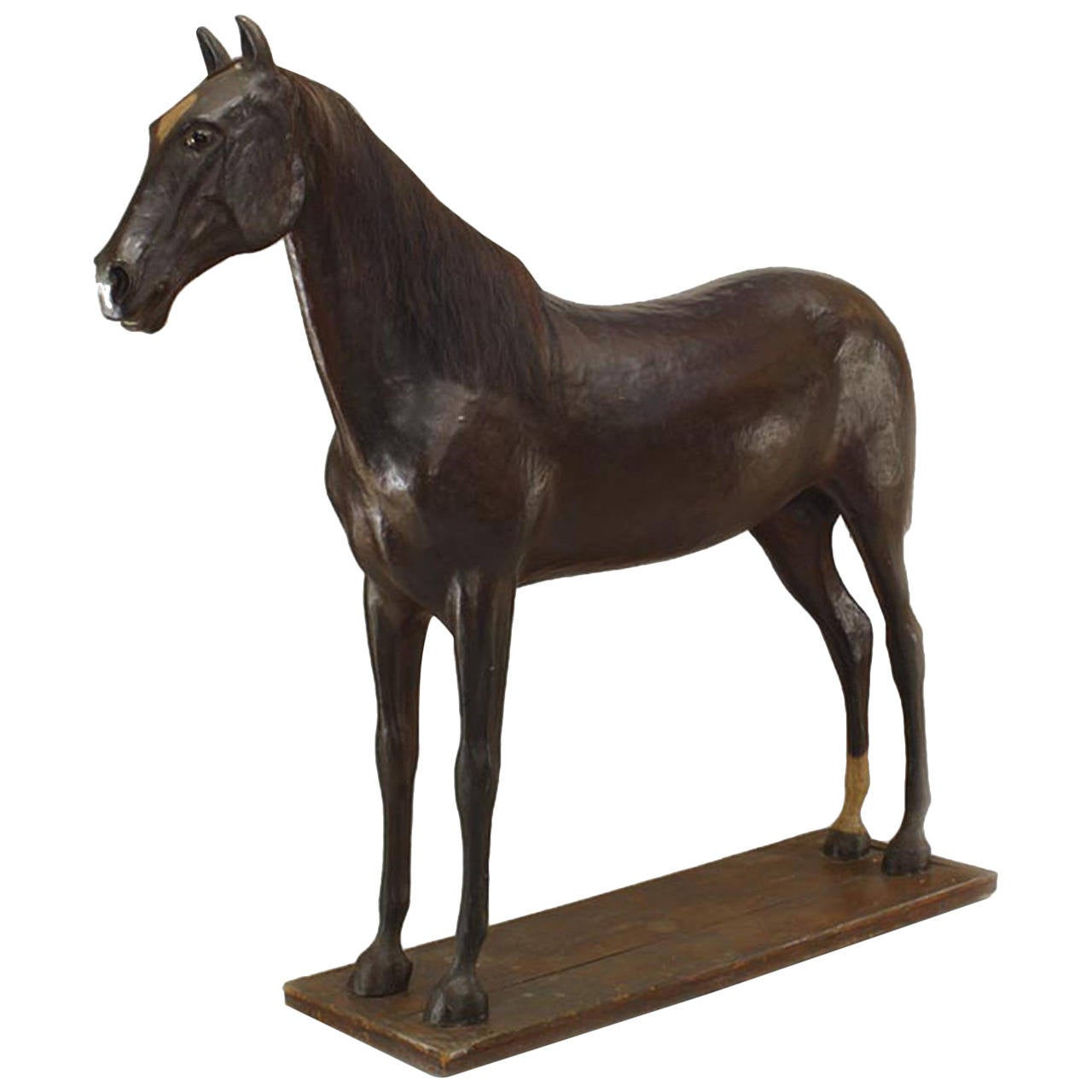 Life-Size Turn-of-the-Century English Country Style Papier Mâché Horse