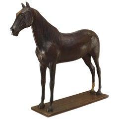 English Country Papier Mache Horse