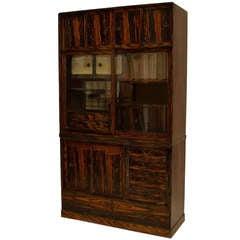 Asian Persimmon And Keyaki Wood Etagère Cabinet