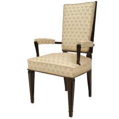 1940's French Upholstered Armchair, Attrib. to Dominique