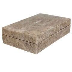 English Art Deco Maple-Lined Shagreen Box