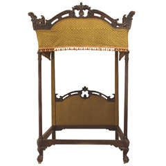 19th c. English Chippendale Style Four Poster Bed
