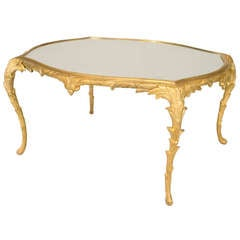 Bagues Louis XV Style Gilt Bronze Coffee Table