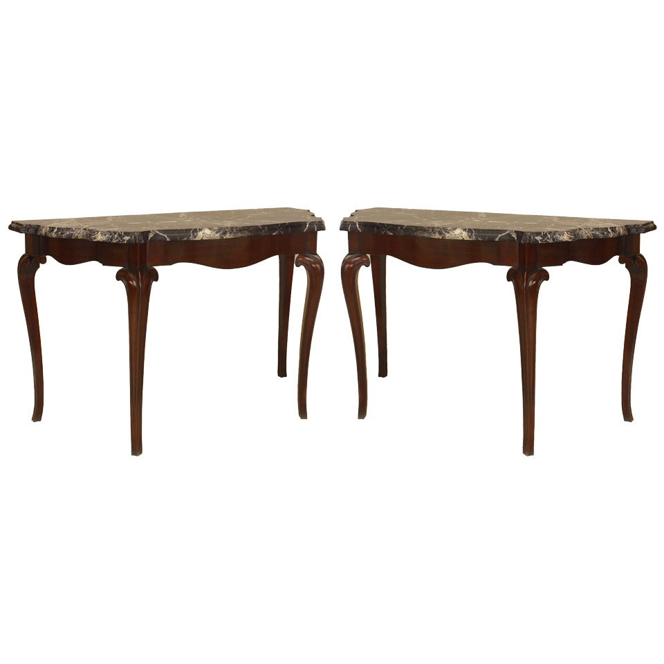 Pair of 18th c. Portuguese Rosewood Console Tables