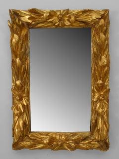 18th c. Italian Rococo Gilt Wood Wall Mirror