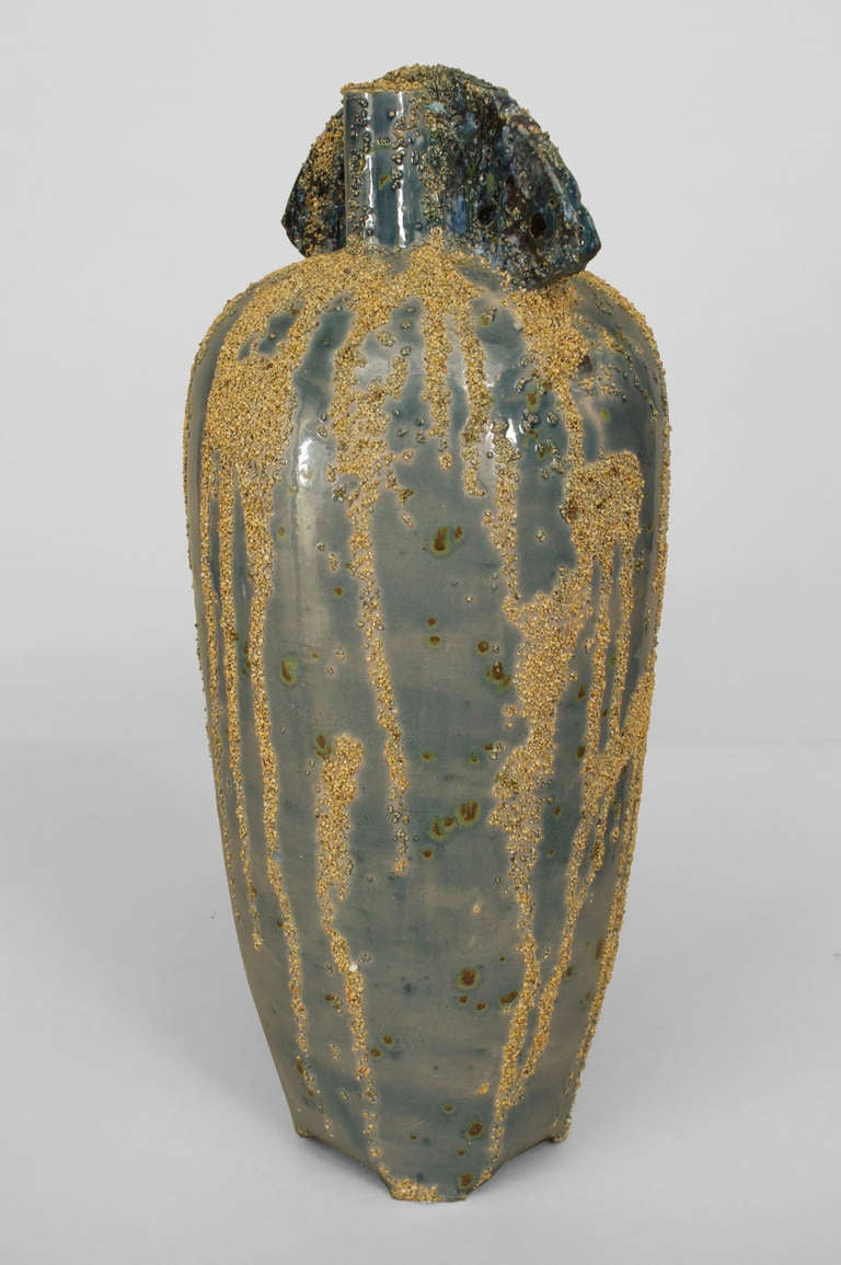 1970 In Woo Chang Sand Glazed Ceramic Urn For Sale At 1stdibs