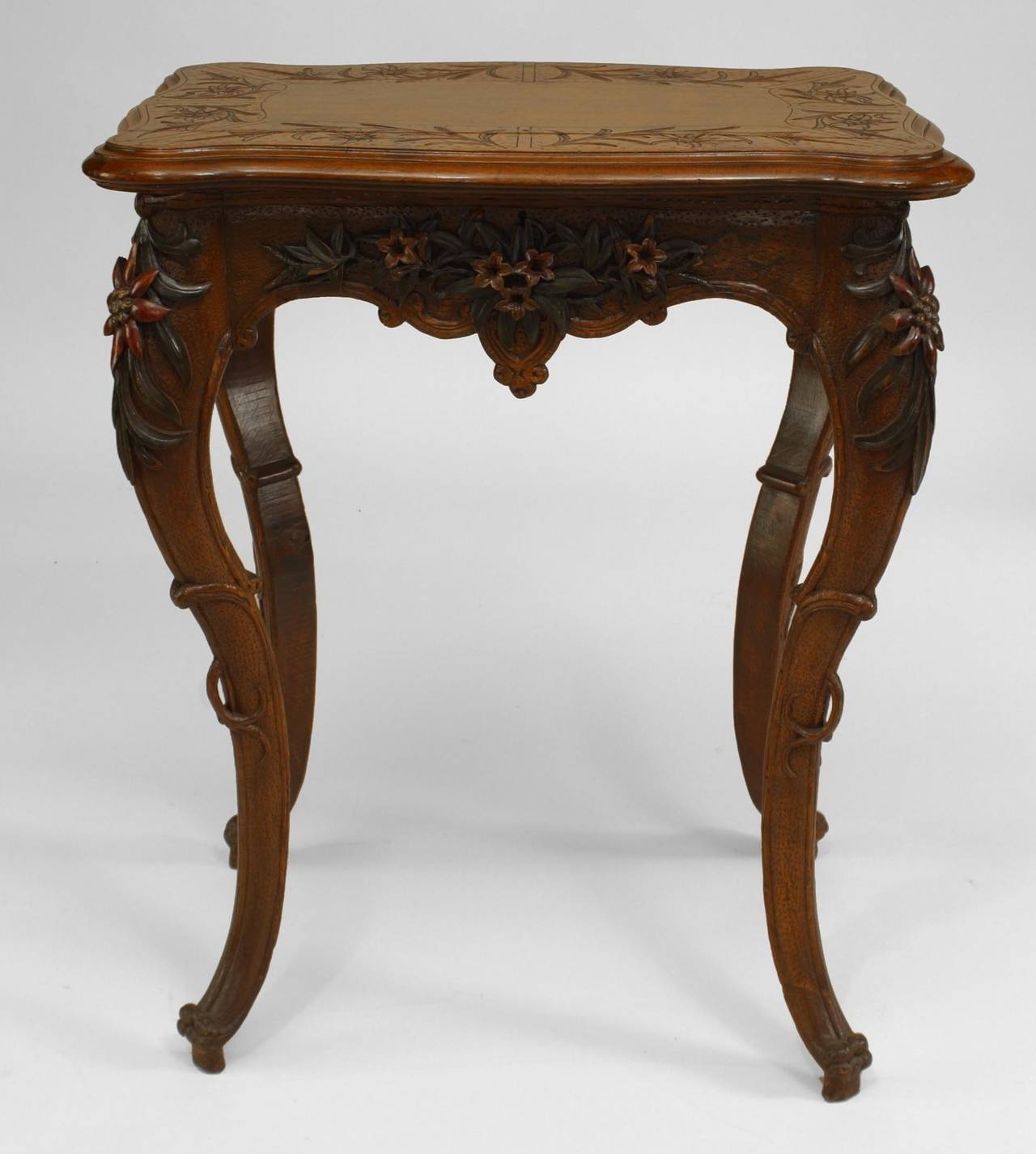 Small 19th century french walnut flip top dressing table for Table th rotate