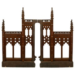 Pair of 19th Century English Gothic Revival Railing Panels
