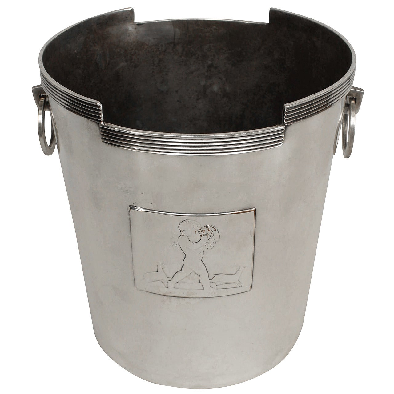 American Art Deco Chrome Champagne Bucket by Rockwell Kent for Chase