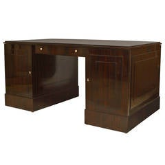 French Art Deco Calamander Desk, by Dominique