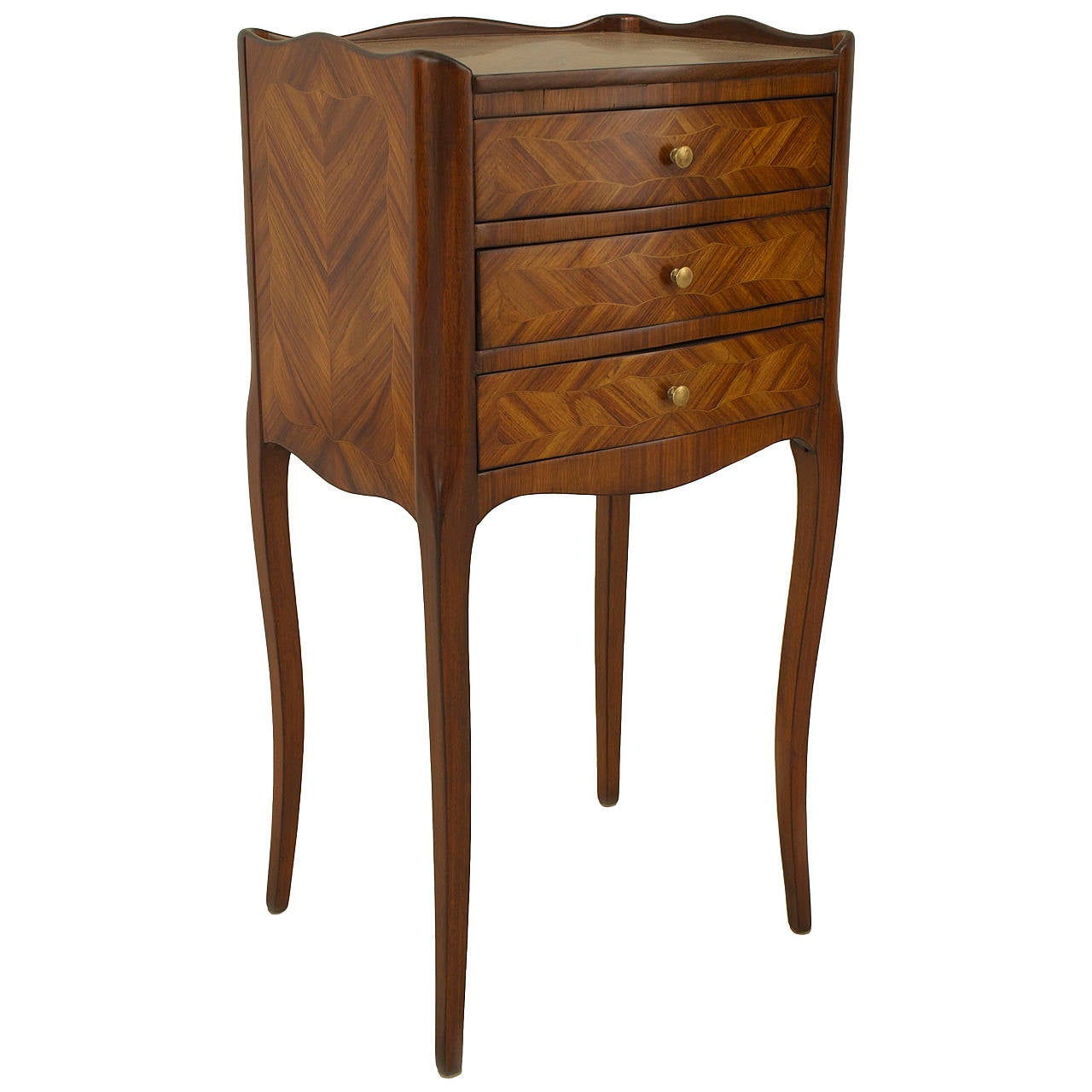 small turn of the century french louis xv style tulipwood. Black Bedroom Furniture Sets. Home Design Ideas
