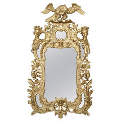 19th Century English Georgian Style Carved Giltwood Wall Mirror